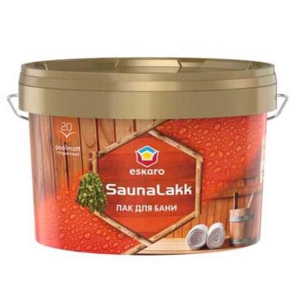Лак для бани Eskaro Saunalakk акрилатный, 2,4л