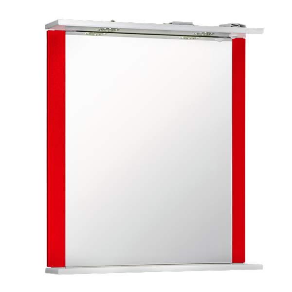 Зеркальный шкаф Дуэт 60см красный Norta