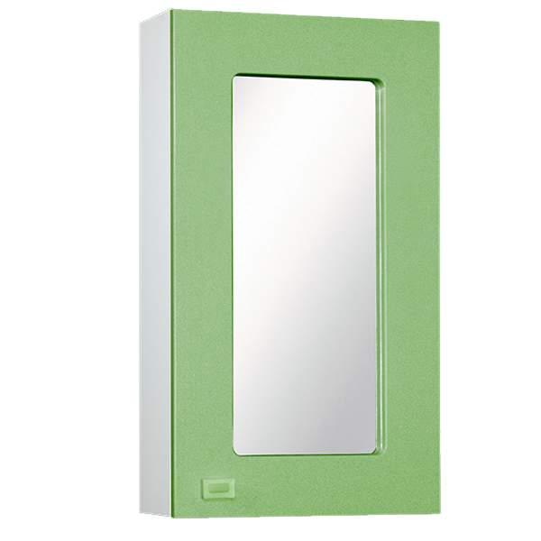 Зеркальный шкаф Акварель 45см салатовый Norta
