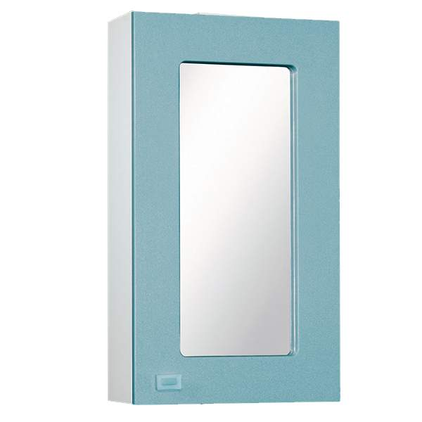 Зеркальный шкаф Акварель 45см голубой Norta