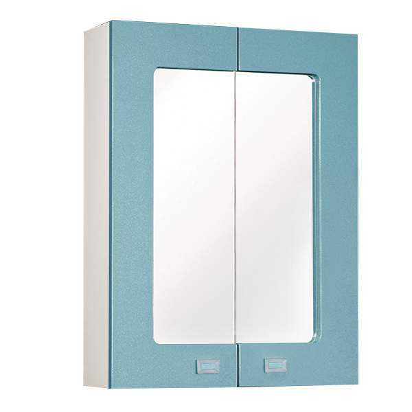 Зеркальный шкаф Акварель 60см голубой Norta
