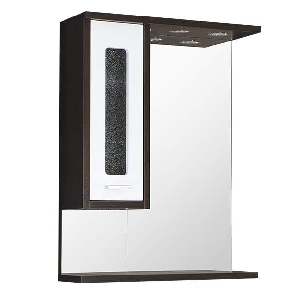 Зеркальный шкаф Классик 65см  левый венге/белый Norta