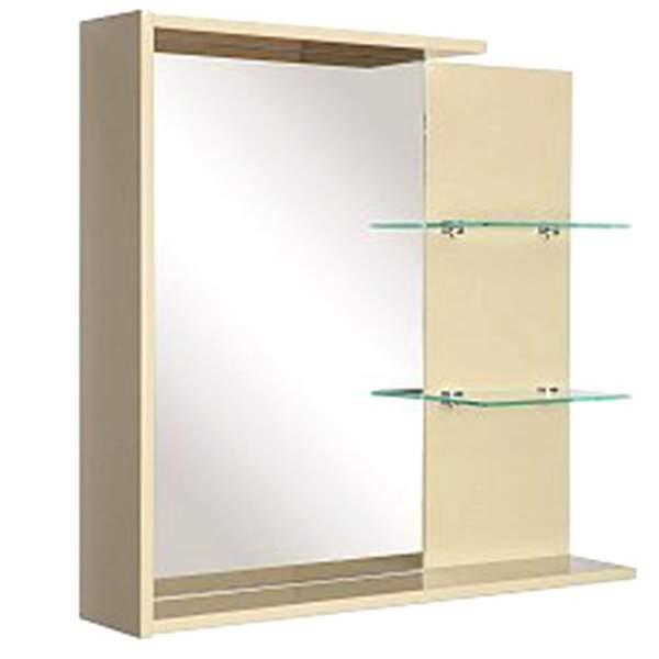 Зеркальный шкаф Колор 75см с полками оливковый Norta
