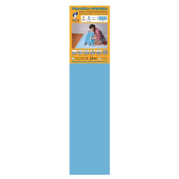 Подложка-Гармошка 1050х250х5 синяя (уп.5,25м2) ТМ Solid