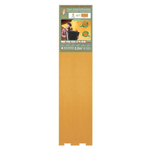 Подложка-Гармошка Quick Puzzle 1050*250*3 оранжевая (уп.5,2м2) ТМ Solid