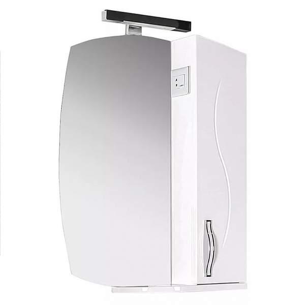 Зеркальный шкаф Грета 60см белый ASB-Mebel