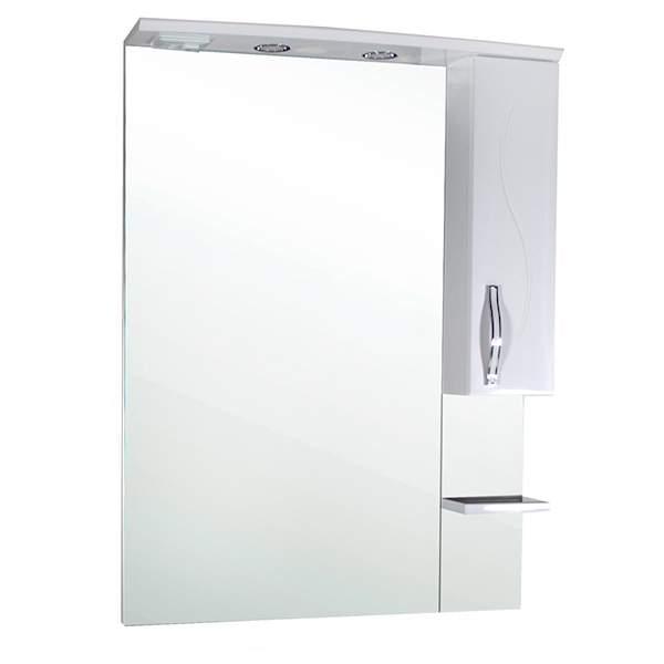 Зеркальный шкаф Грета 60см c полкой белый ASB-Mebel