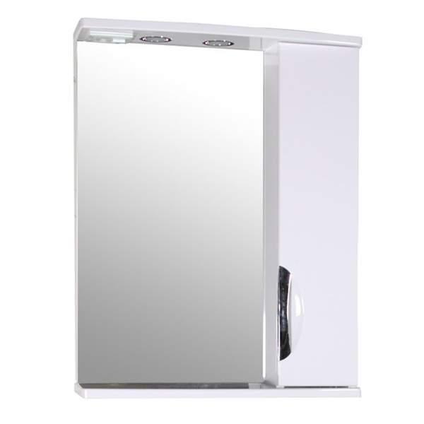 Зеркальный шкаф Мессина 60см белый ASB-Mebel