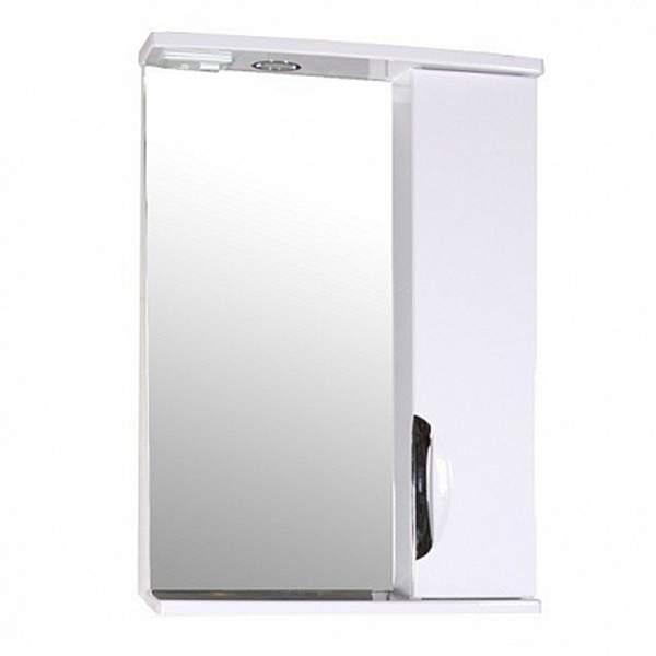 Зеркальный шкаф Мессина 50см белый ASB-Mebel