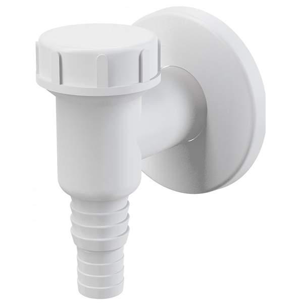 Сифон Alca Plast APS2 для стиральной машины наружный, белый (подключение к стоковой трубе d=32мм)