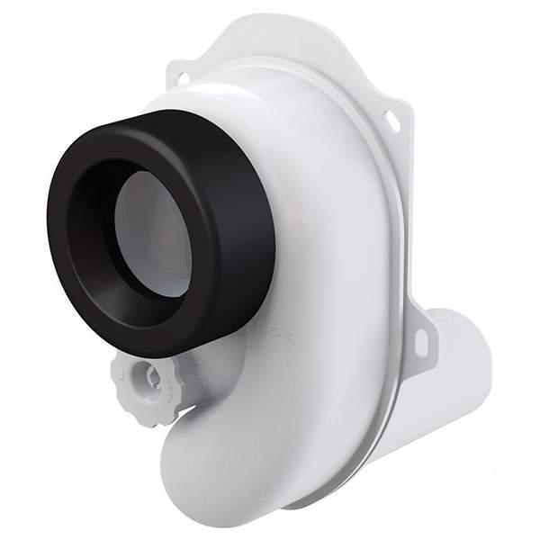Сифон Alca Plast А45В для писсуара горизонтальный (подключение к канализационной трубе d=40мм, подключение к писсуару d=50мм)