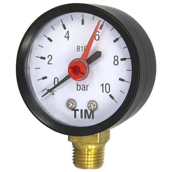 Манометр радиальный 10 Бар, класс точности 1,5, 1/4 н TIM