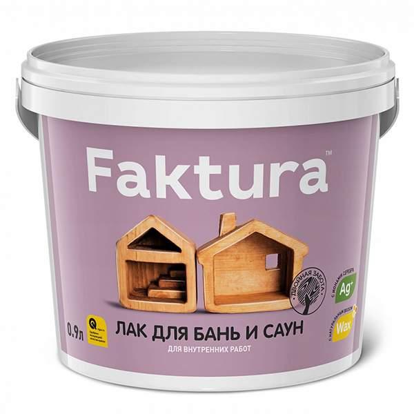 Лак для бань и саун FAKTURA, бесцветный 2,7л