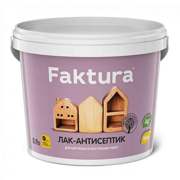 Лак-антисептик FAKTURA, махагон 0,9л