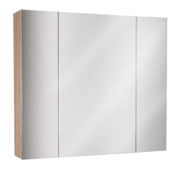 Зеркальный шкаф Лира 85см дуб золотой ASB-Mebel