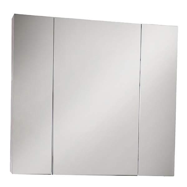 Зеркальный шкаф Лира 85см серый камень ASB-Mebel