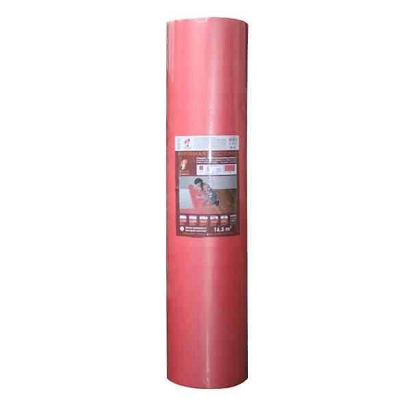 Подложка рулонная 15м*1,1м*2мм красная/ графит (уп.16,5м2) ТМ Solid