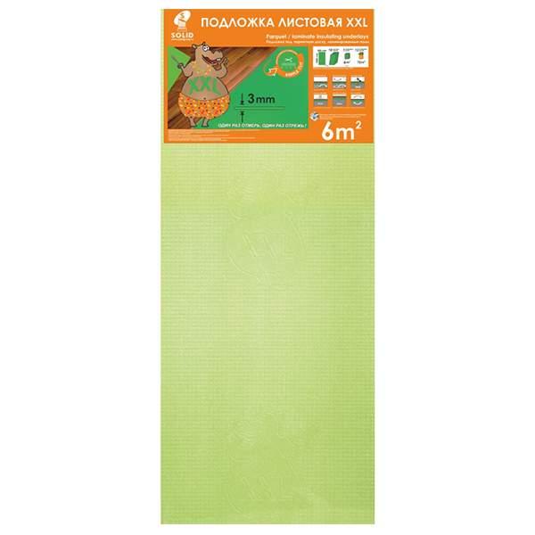 Подложка листовая XXL 1200*500*3мм салатовая (уп.6м2) ТМ Solid