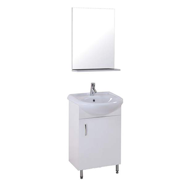 Мебель в ванную Эко 50см 3в1 (Тумба + ум.+ зеркало) 478х281х680