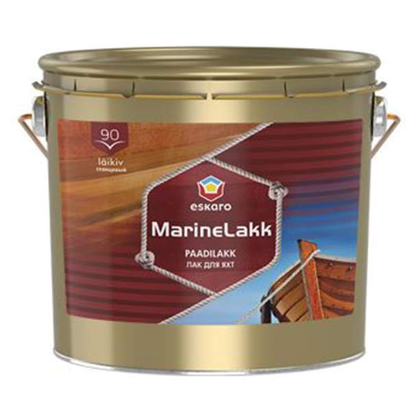 Лак для яхт Eskaro Marine lakk 90 уретан-алкидный глянцевый, 2,4л